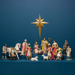 CRECHE NATIVITY, SET OF 16