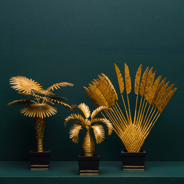TRAVELLER'S PALM TREE DECOR, GOLD