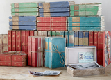 VINTAGE BOOK BOX , AQUAMARINE
