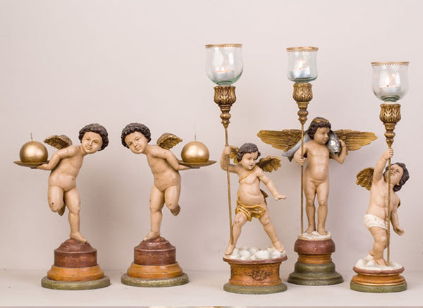 DANCING PUTTO CANDLEHOLDER