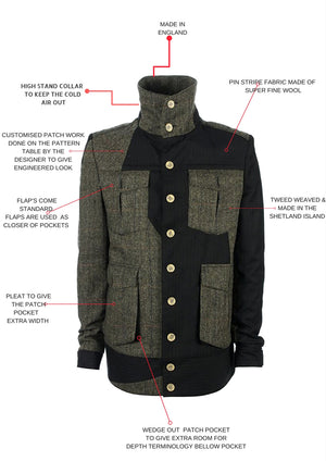 SAMPLE SALE: Aston Patchwork Jacket - Ocha and Garth