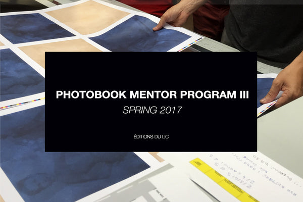 PHOTOBOOK MENTOR PROGRAM III