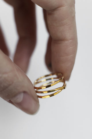 Swirl Ring Gold