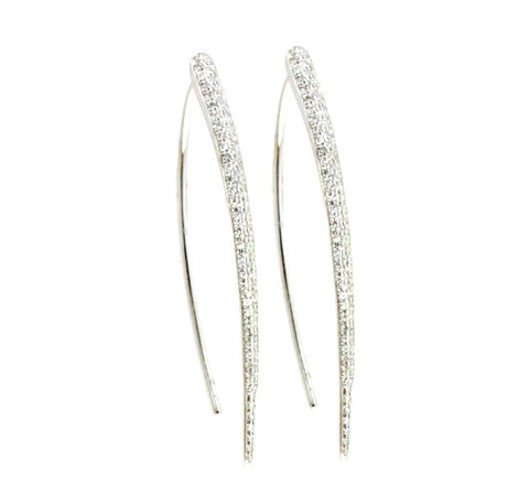 Pave Wishbone Earring