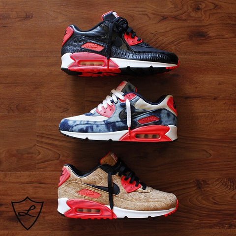 5fa7234940be Laced Up Laces x Nike Air Max 90 Infrared