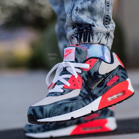 Laced Up Laces x Nike Air Max 90 Infrared Washed Denim