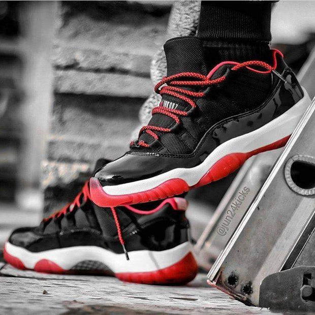 Laced Up Laces   Black Red Rope Shoelaces