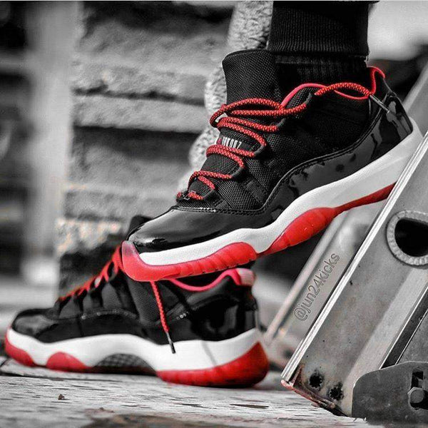 Laced Up Laces | Black red rope shoelaces | Rope Shoe laces | Jordan 11 laces | Jordan 11 bred laces