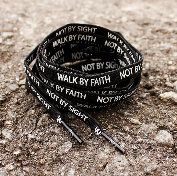 """WALK BY FAITH"" LACES - BLACK"