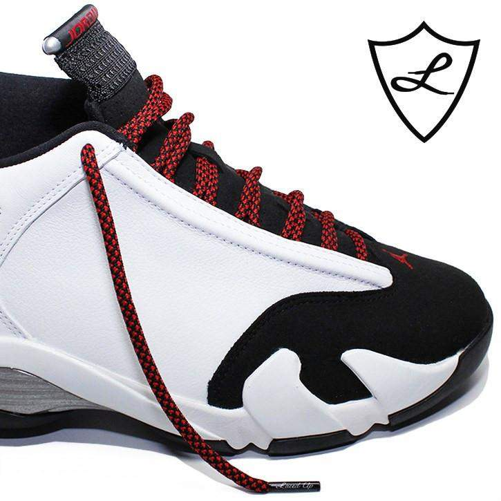 Laced Up Laces | Black red rope shoelaces | Rope Shoe laces | Jordan 11 laces | Jordan 14 bred laces