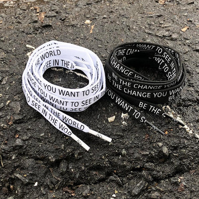"""BE THE CHANGE"" LACES 2 PACK"