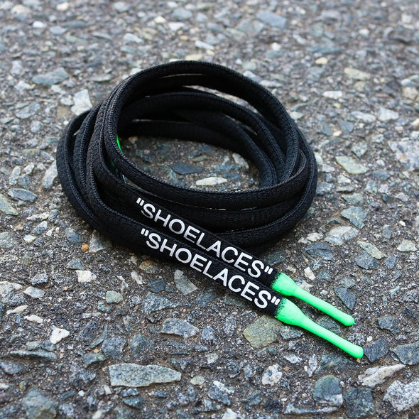 "BLACK-GREEN DIPPED ""SHOELACES"""
