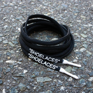 "BLACK-WHITE DIPPED ""SHOELACES"""