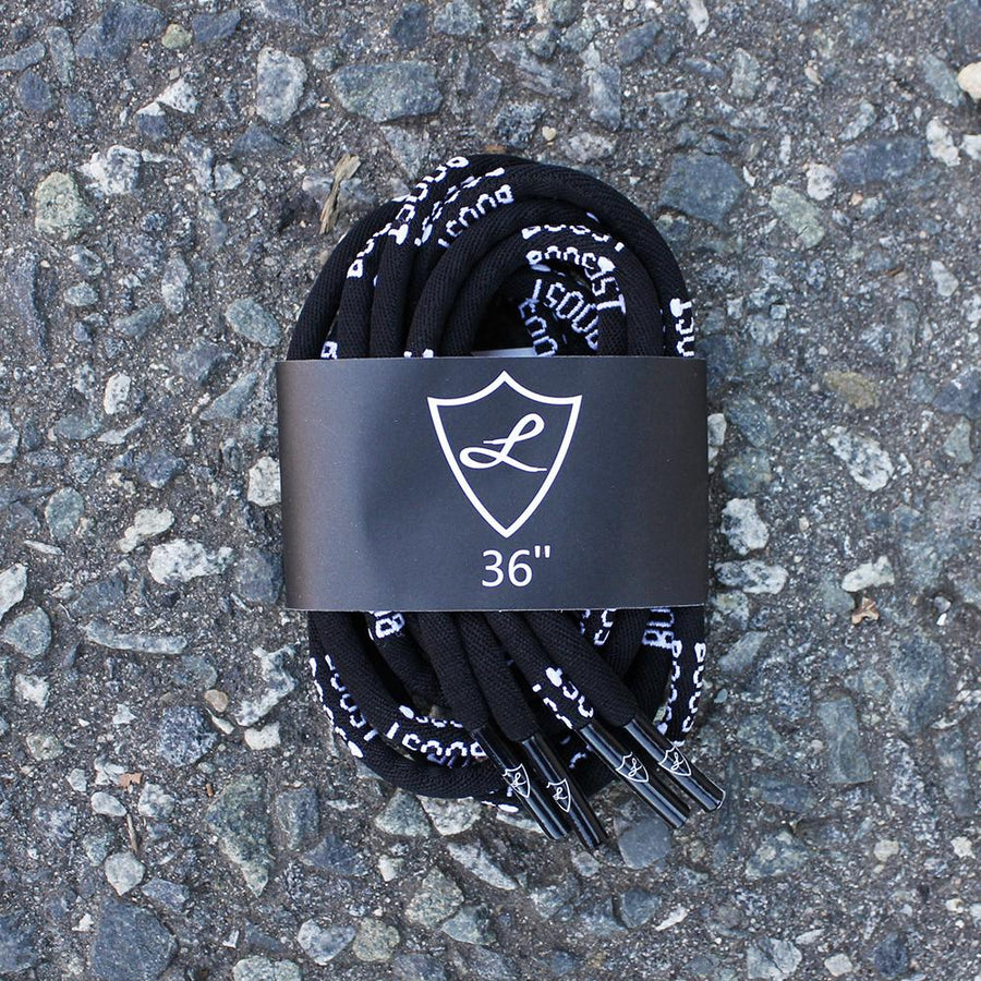 Black Boost Rope Shoelaces