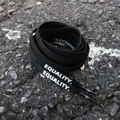EQUALITY SHOELACES - BLACK