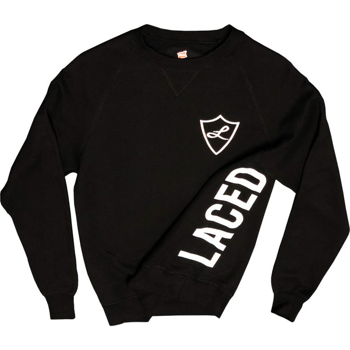 Black Laced Crewneck