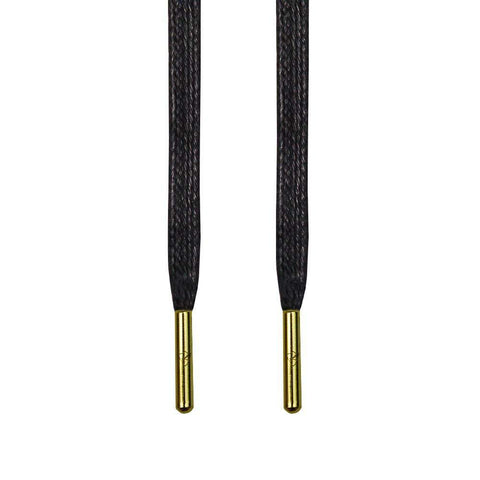 Black Waxed Shoelaces