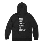 "BLACK ""SHOE CONTACT"" HOODY"