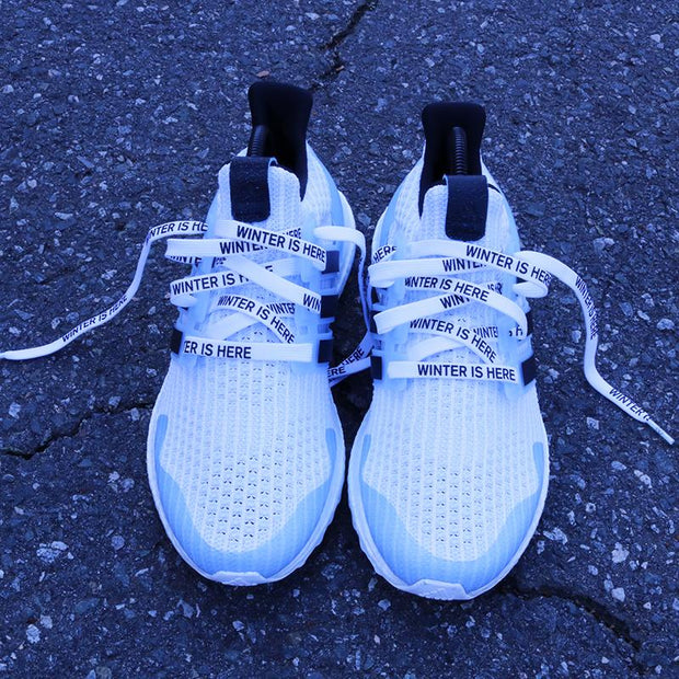 """WINTER IS HERE"" WHITE LACES"