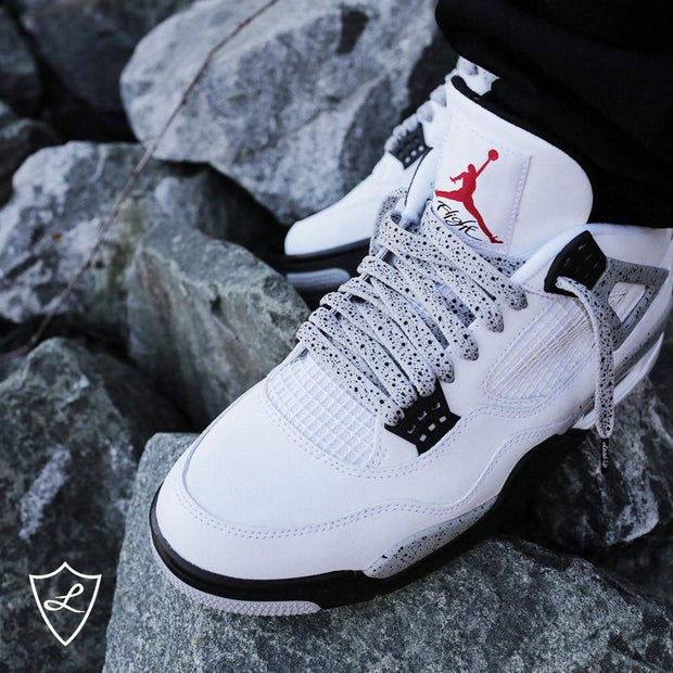 Jordan 4 laces | Jordan shoelaces | Laced Up Laces | Cement print laces