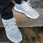 Laced Up Laces | Gray cement shoelaces | Cement print shoe laces | Adidas ultra boost