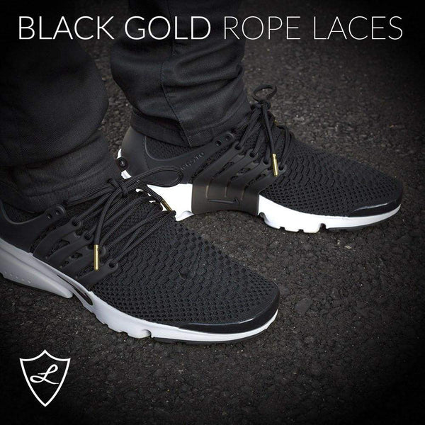Black Gold Rope Laces , Rope Laces - Laced Up, Laced Up Laces   - 3