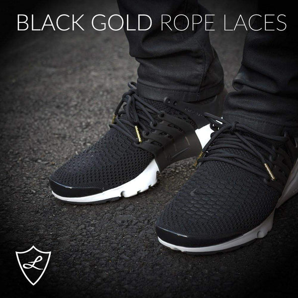 Black Gold Rope Laces , Rope Laces - Laced Up, Laced Up Laces   - 4