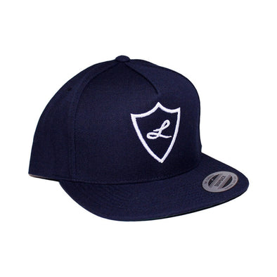 Navy Snapback , Hats - Laced Up, Laced Up Laces