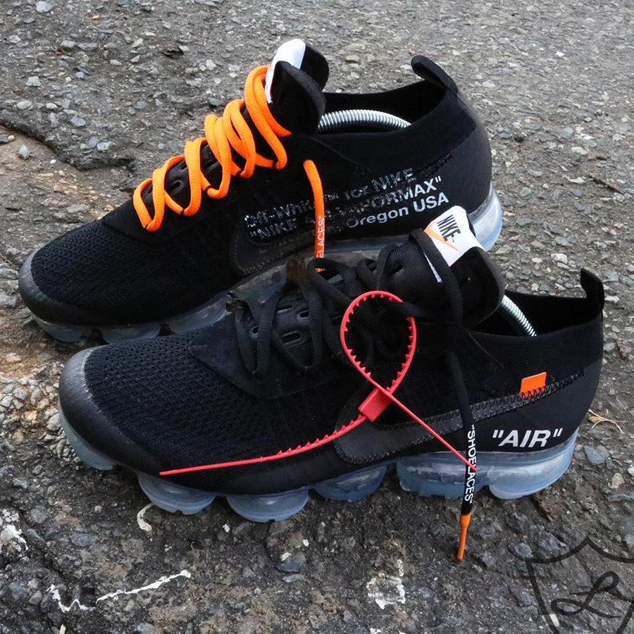 "BLACK-ORANGE DIPPED ""SHOELACES"""