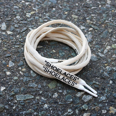 "SAND-WHITE DIPPED ""SHOELACES"""