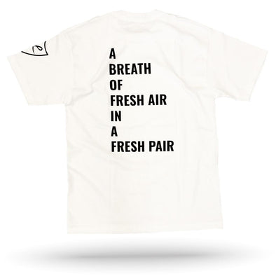 "White ""FRESH AIR"" Tee"