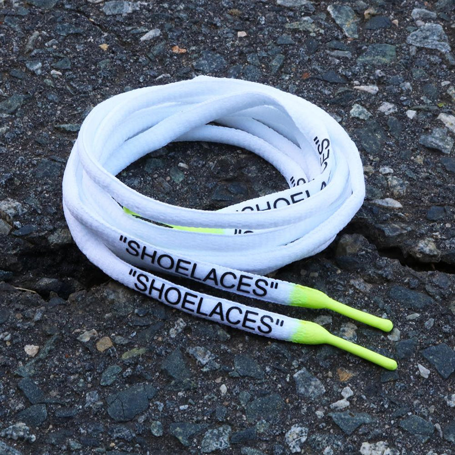 "WHITE VOLT DIPPED ""SHOELACES"""