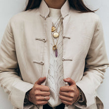 Load image into Gallery viewer, Mandarin Linen Jacket Beige