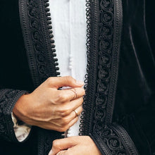 Load image into Gallery viewer, Mansour Black Velvet Robe