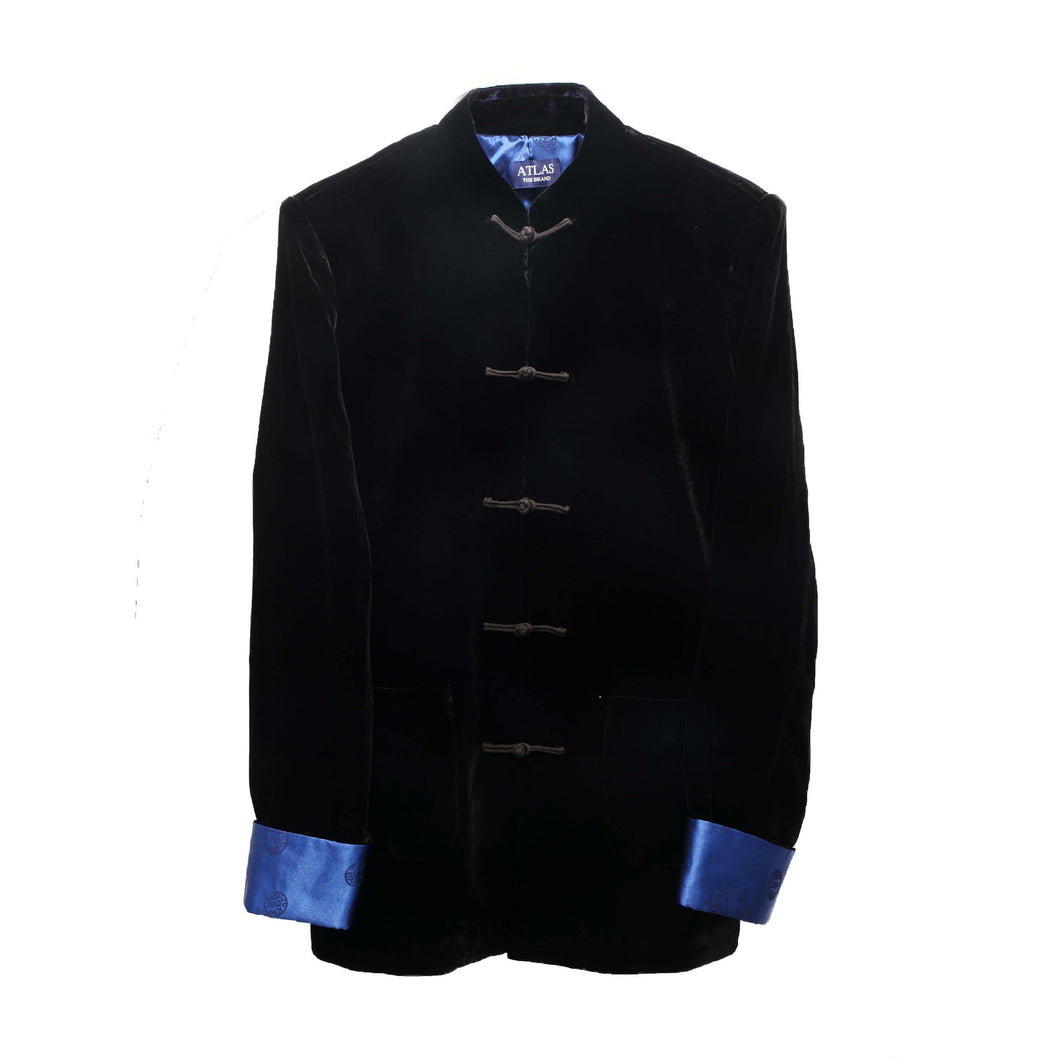 Mandarin Black Velvet Dinner Jacket