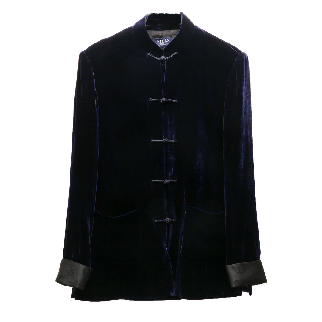 Mandarin Navy Velvet Dinner Jacket