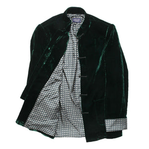 Mandarin Emerald Velvet Dinner Jacket