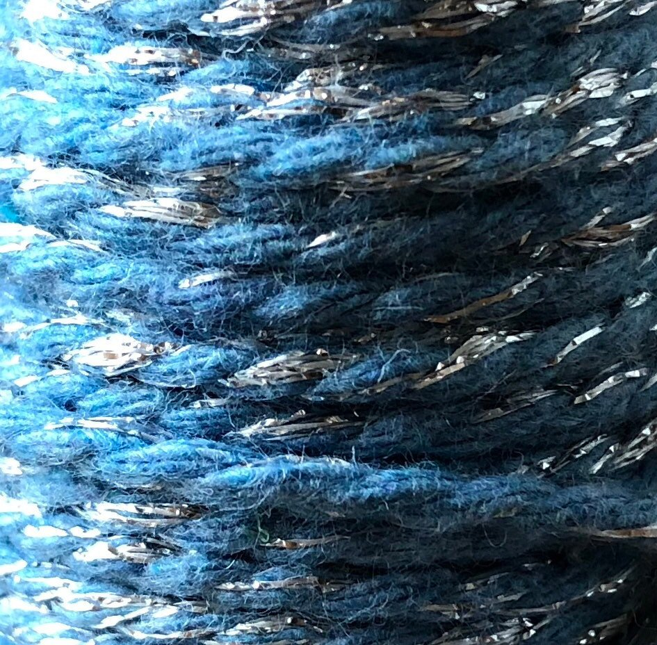 Light Blue and Silver Twine Spool - 20ft 8ply