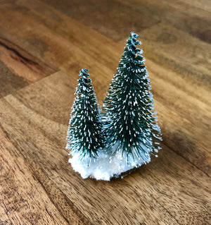 Handmade Winter Diorama Gift Topper