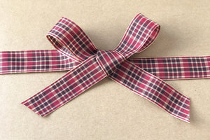 Tartan Plaid Satin Ribbon