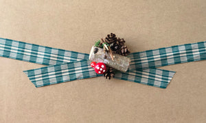 Green and White Glen Plaid Satin Ribbon