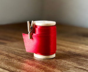 Red Satin Valentines Ribbon Spool - 15ft (5yds)