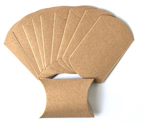 10 Kraft Pillow Boxes