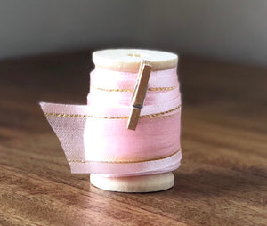 Pink Organza Ribbon Spool - 15ft (5yds)