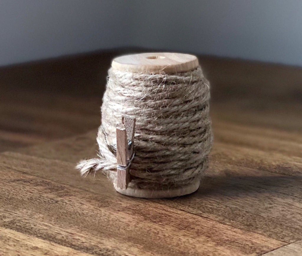 Jute Twine on Wood Spool - 20ft 4ply
