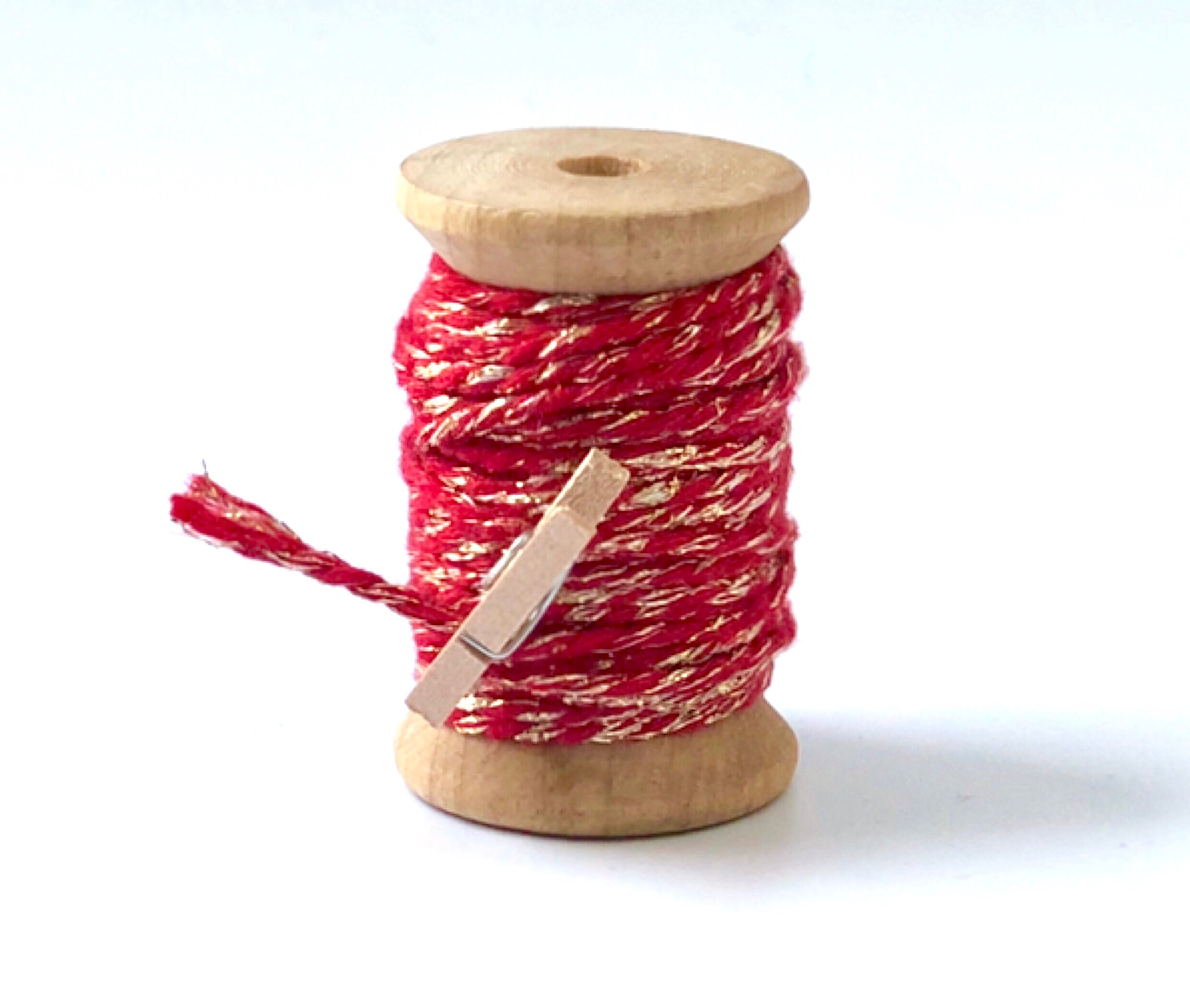Red and Gold Twine Spool - 20ft 8ply