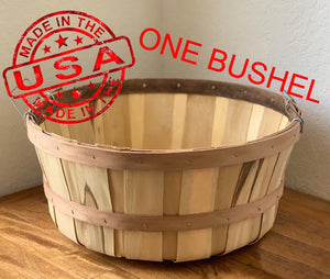 Round Bushel Fruit Basket-Natural