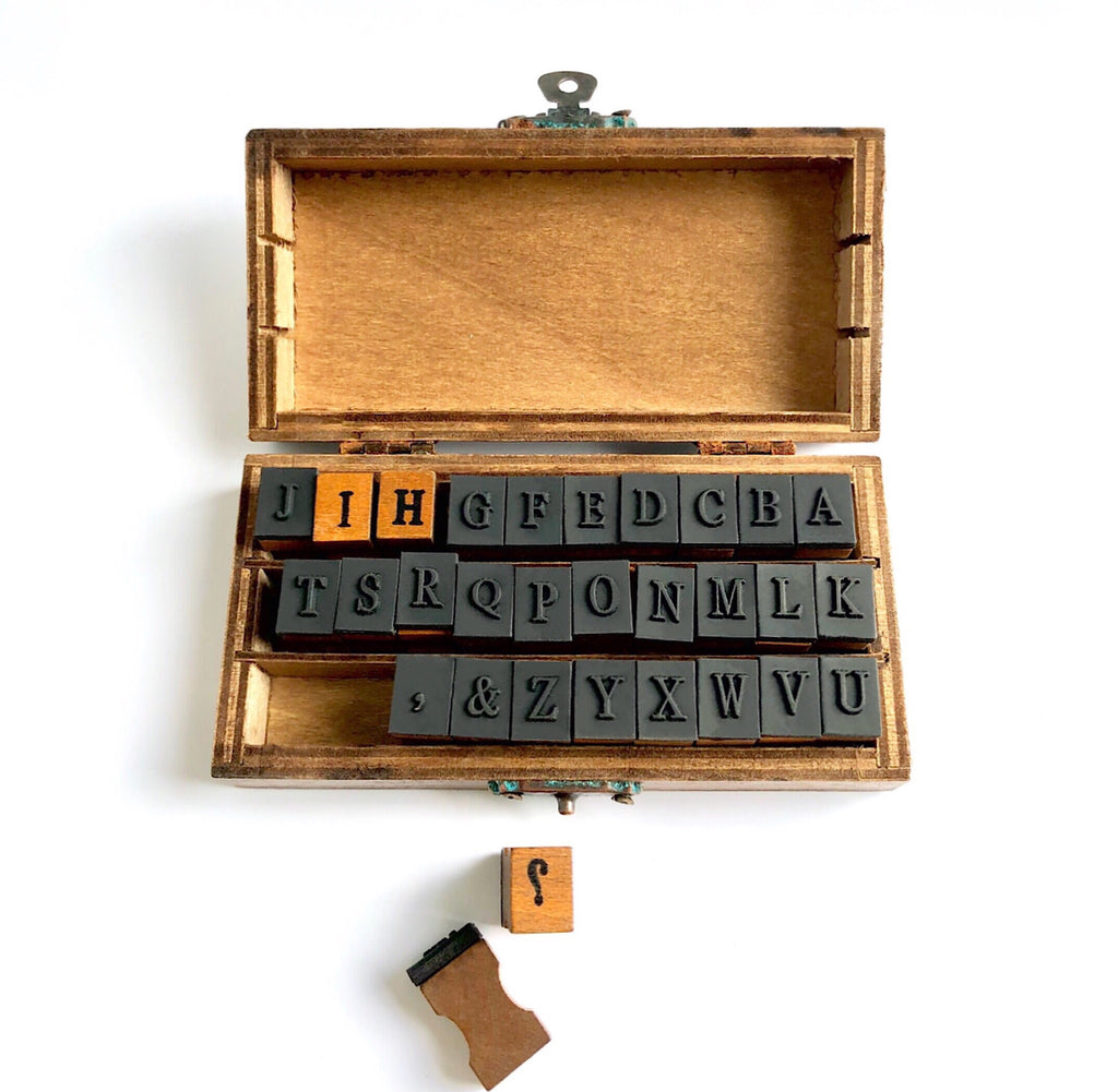Rubber Alphabet Stamp Set ~ UPPER CASE LETTERS
