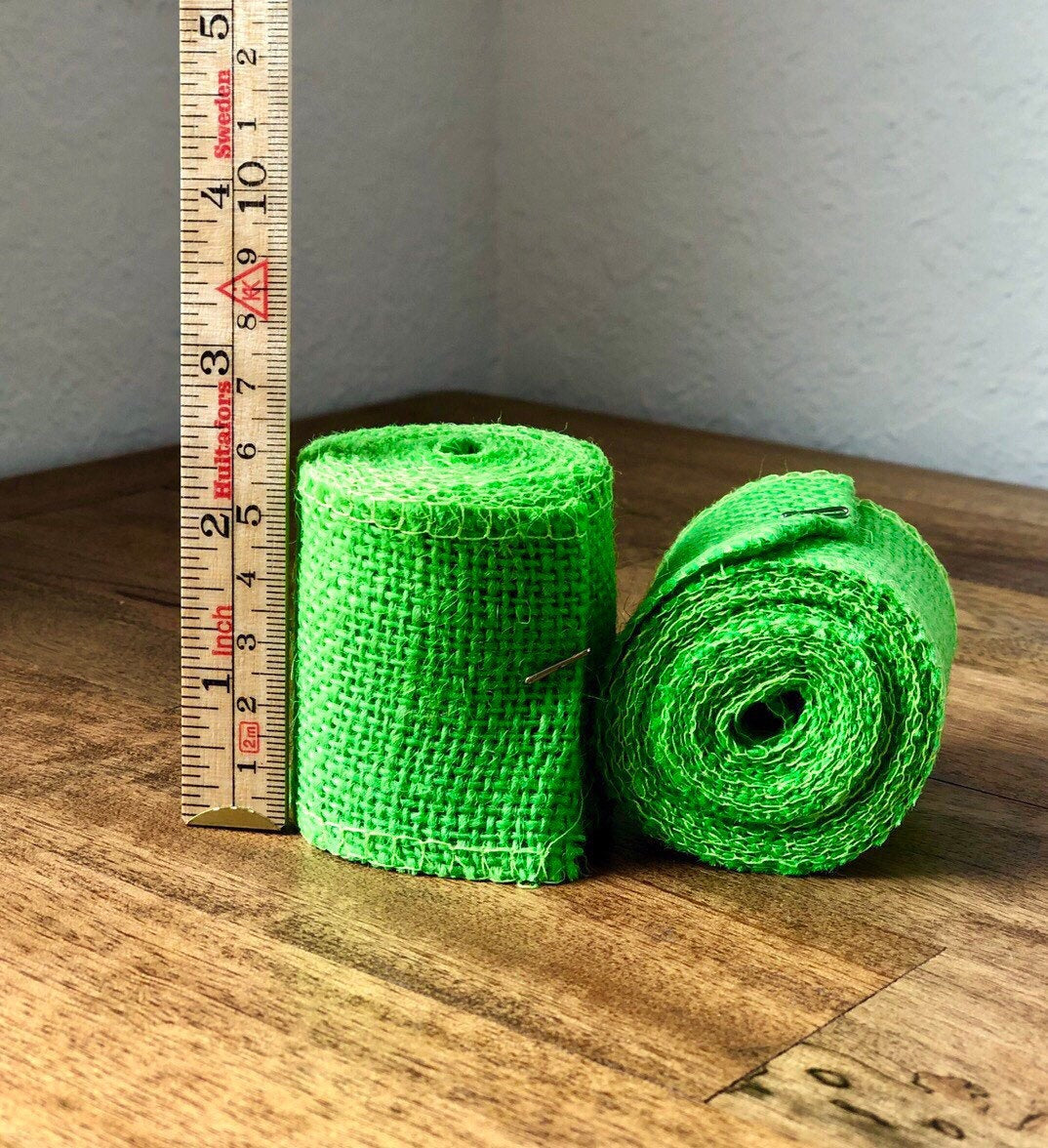 Spring Green Burlap Ribbon