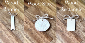 Wood Gift Tags ~ Set of 30